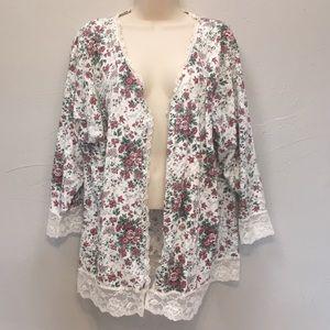 Vintage Victoria's Secret Floral Lace Cardigan Top